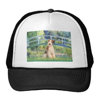 Lily Pond Bridge - Wire Fox Terrier 3 Hats
