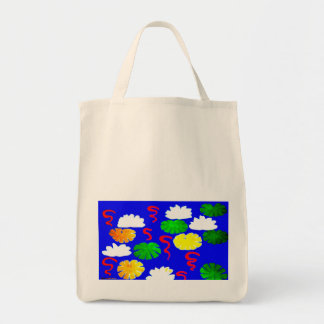 Lily Pond Canvas Bags