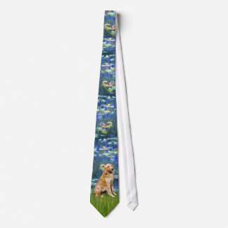 Lily Pond (in blue) - Golden Retriever Neck Tie