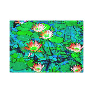 Lily Pond on Canvas Canvas Prints