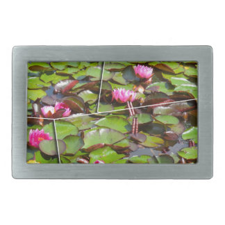 Lily pond times four rectangular belt buckles