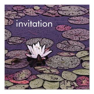 lily pond tranquility baptism/confirmation invitat invitation