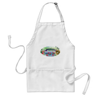 Lily Pond Watercolor Adult Apron