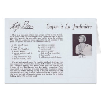 Lily Pons vintage recipe Hollywood Card