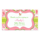 Lily Pulitzer Inspired Favor Tags Matched Invite Double-Sided Standard Business Cards (Pack Of 100)
