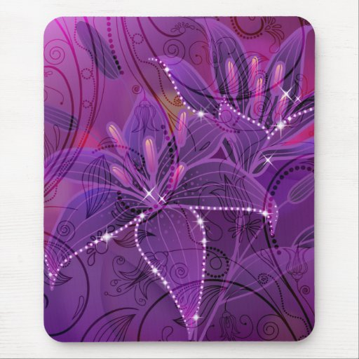 Lily Purple Dreams Mouse Pad