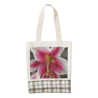 Lily Red White Plant House Zazzle HEART Tote Bag