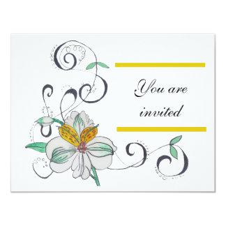 Lily & Scroll Invitation