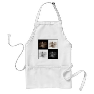 Lily Sepia and Black White Collage Apron