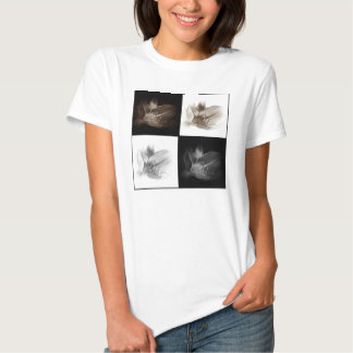 Lily Sepia and Black White Collage Shirt