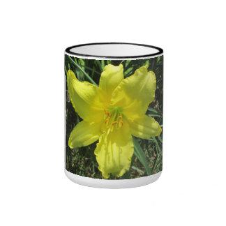 Lily Shady Lemon Yellow Coffee Mugs
