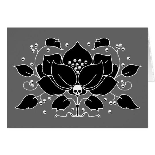 Lily Skull Motif Card