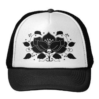 Lily Skull Motif Trucker Hat