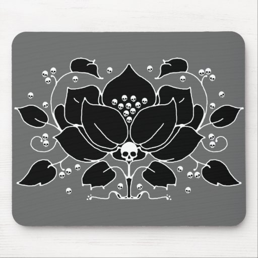 Lily Skull Motif Mouse Pads