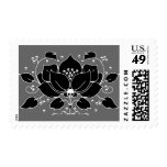 Lily Skull Motif Postage Stamps