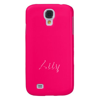 Lily Solid Pink Samsung Galaxy S4 cover