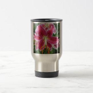 Lily Stargazer Purple Flower Travel Mug