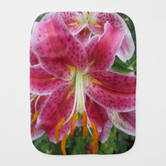 Lily Stargazer Purple Flower Burp Cloth