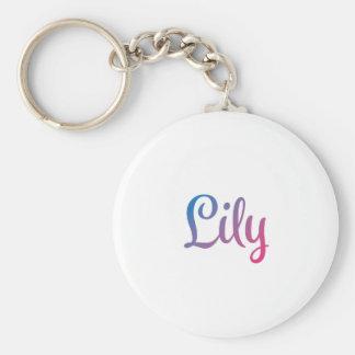 Lily Stylish Cursive Keychain