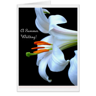 Lily Summer Wedding Save the Date Cards