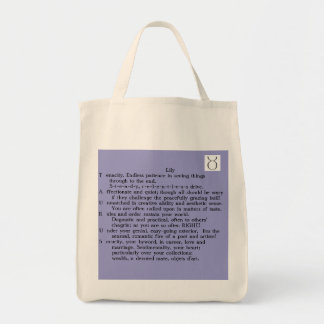 Lily Taurus Apr 20-May 20 poem tote Canvas Bags