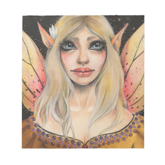 Lily the Golden Faerie by Kim Turner Notepad