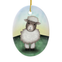 Lily the Lamb - Ornament