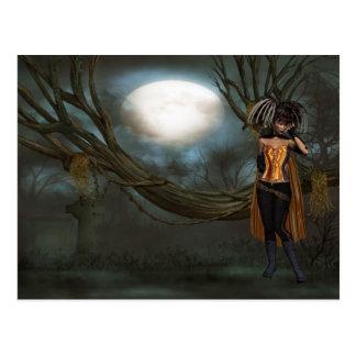 lily vampire postcard