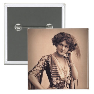 Lily Vintage Movie Star 2 Inch Square Button