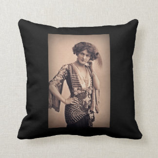 Lily Vintage Movie Star Throw Pillow