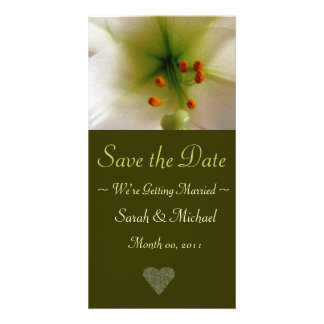 Lily Wedding Announcement Card
