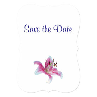 Lily Wedding Day Theme Save the Date Card