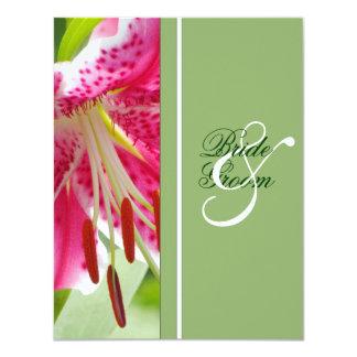 "Lily Wedding Invitation 4.25"" X 5.5"" Invitation Card"