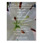 Lily Wedding invitation with scripture Postcard