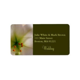 Lily Wedding Return Address Label