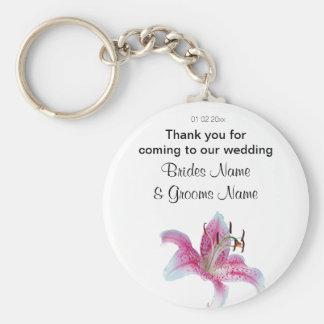 Lily Wedding Souvenirs Keepsakes Giveaways Keychain