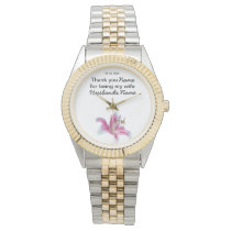 Lily Wedding Souvenirs Keepsakes Giveaways Wristwatch