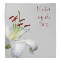 Lily, White and Red MOTHER OF THE BRIDE Bandana