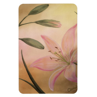 Lily with buds Magnet
