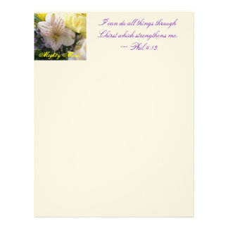 lily with lalas soft yellow, Mighty Mom!, I can... Letterhead