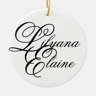 Lilyana Elaine Adorno Navideño Redondo De Cerámica