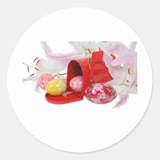 LilyEggsMailbox051409 Classic Round Sticker