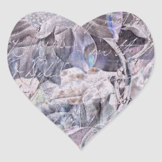 Lilyflower Abstract Heart Sticker