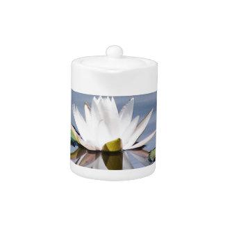 lilypad flower teapot