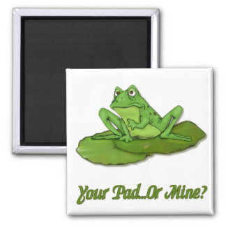 Lilypad Frog 2 Inch Square Magnet