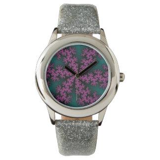 Lilypad Lotus Splatter Glitter Watch
