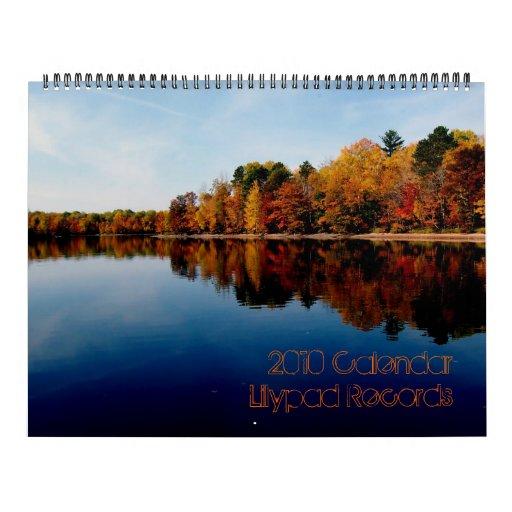 Lilypad registra 2010 calendario de pared