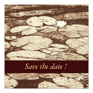 Lilypad save the date wedding announcement