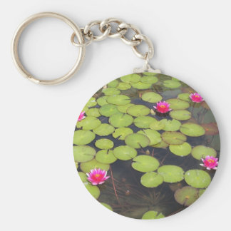 Lilypads and Water Lilies Key Chains