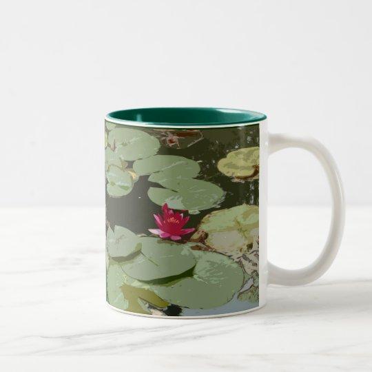 Lilypads Impressionism  Art Two-Tone Coffee Mug